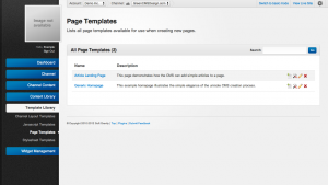 Unroole Site Builder Admin Panel - Templates Pages.png