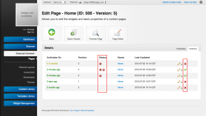 Unroole Site Builder Admin Panel - Page Activation List.png