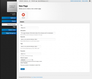 Unroole Site Builder Admin Panel - New Page.png