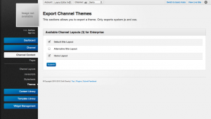 Unroole Admin Panel - Themes Export Channel Layouts.png