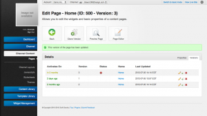 Unroole Site Builder Admin Panel - Page Versions.png
